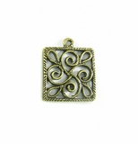 Metalcast Brass Square Pendant