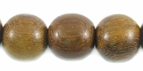 Round Robles Wood Beads 12mm