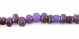 Purple Nugget Horn Beads 6mm