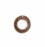 Metalcast Copper Hammered  O'Ring Pendant