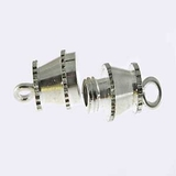 Silver Plated Barrel Clasps 14x4mm