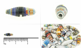 Assorted Bicone Paper Beads  8x18mm