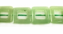 Green Square Hollow Aventurine Beads