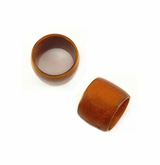 Tan Brown Laminated Shell Capiz Ring Beads