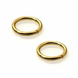 Round Gold Plated Open Jump Rings 10mm