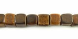 Burnt Horn Dice Beads 7mm