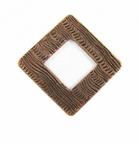 Metalcast Copper Corrugated Diamond Pendant
