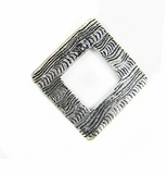 Metalcast Silver Corrugated Diamond Pendant