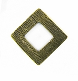 Metalcast Brass Corrugated Diamond Pendant