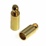 Gold Plated Tube Cord End Caps 2.7mm