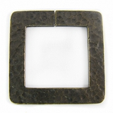 Metalcast Brass Hammered Square Pendant