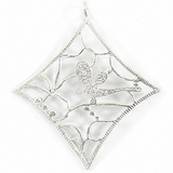 MetalCast Silver-Shine Diamond Pendant