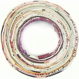 Paper Beads Donut Multi Color 40mm