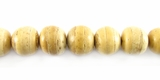 Natural Beige Round Coco Beads 8mm