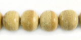 Unbleached Natural Beige Round Coco Beads 10mm