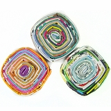 Multi Color Square Pendant Paper Beads 22x22-25mm