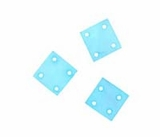 Hammershell Square 10mm Light Blue Shell Beads