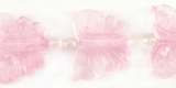 Rose Quartz Butterfly Beads 23x18mm