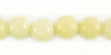 Polished  White Round Buri Beads 8mm