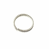 Sterling Silver Twisted Round  Jump Rings (Open) 8mm