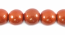 Metallic Copper Round Wood Beads 10mm