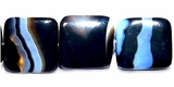 Square Pillow Blackline Agate Beads 12x5mm