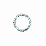 Sterling Silver Twisted Round Jump Rings (Open) 6mm