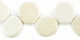 Disc Coco Beads 10x4mm - Bleached White