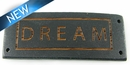 "Message Bracelet ""DREAM"" Component Stained Madre de Cacao Wood 50mmx20mmx4mm Thick"