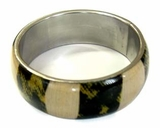 Bangle W/ Corn & Cloth Inlay Straight 65mm