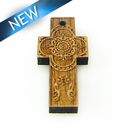 Mahoganny Wood Cross Laser Designed 30x13.5X3.5mm