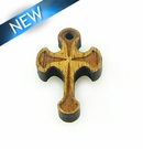 Mahoganny Wood Cross Laser Designed 22x14x3.5mm
