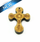 Mahoganny Wood Cross Laser Designed 28x20x3.5mm