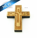 Mahoganny Wood Cross Laser Designed 30x22x3.5mm