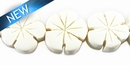 White Wood Flower  Shape 15mm