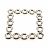 Sterling Silver Square Multi Ring Links