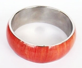Bangle Coral Corn Inlay Straight Design