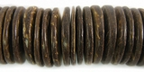 Natural Brown Coco Wheel Disc Beads 20mm