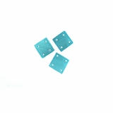 Hammershell Square 10mm Turquoise Beads