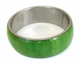Bangle Olive Green Corn Inlay Straight