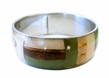 Bangle With Banana Bark Inlay Straight