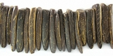 Natural Brown Coco Tusk Beads 23mm