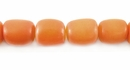 Amber Oval Buri Beads 10x8mm