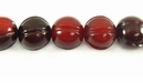 Red Squash Design Horn Beads 12mm
