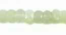 Jade Faceted Stone Button Beads