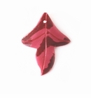 Red Greenshell Leaf Pendant