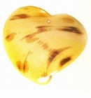Yellow Heart Spotted, Dyed Greenshell Pendants 38x44mm