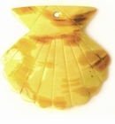 Yellow Seashell Spotted, Painted Greenshell Pendants