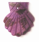 Dark Purple Spotted Greenshell Clam Pendant