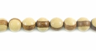 Round Whitewood Beads (with Robles wood band) 6mm